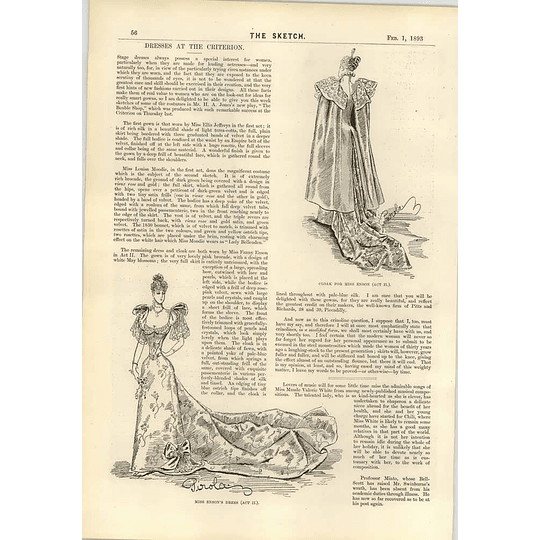 1893 Dresses At The Criterion Louisa Moodie Miss Enson