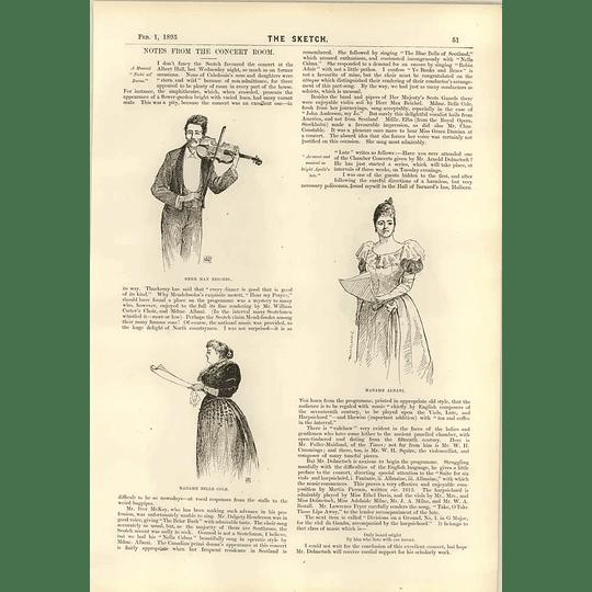 1893 Herr Max Reichel Mme Albani Mme Belle Cole Dainty Bonnet