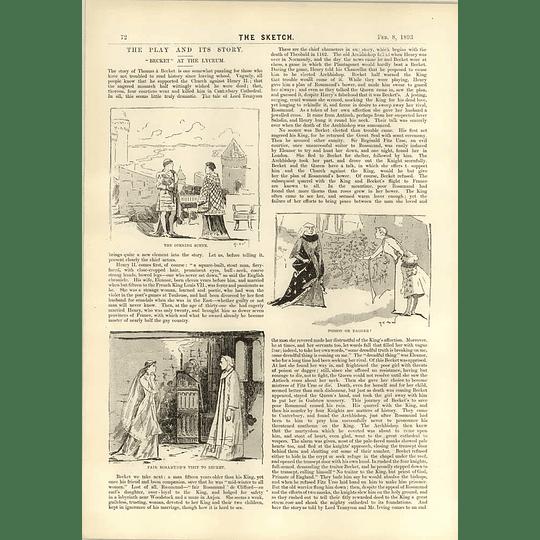 1893 Paris Opera Ball Sketches Villedebois Becket At The Lyceum