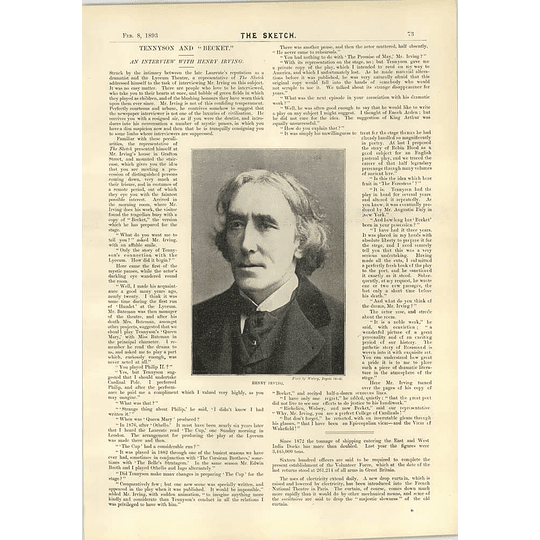 1893 Interview With Henry Irving Revolution In The Sandwich Islands