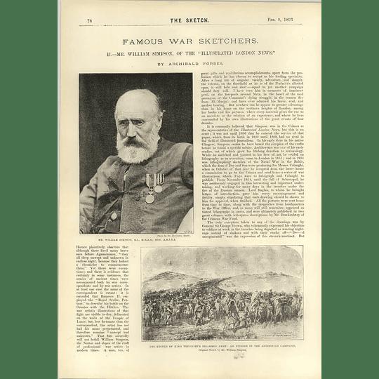 1893 Mr William Simpson Great War Artist