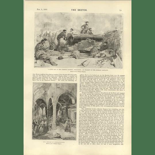 1893 Mr William Simpson Great War Artist Sketches