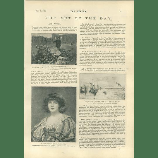 1893 Artwork Lorna Doone Alfred Strutt Study Of A Girl