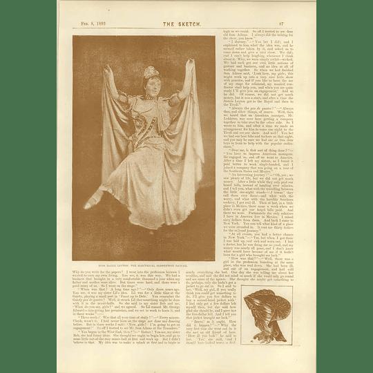1893 Miss Marie Leyton Serpentine Dancer Ii