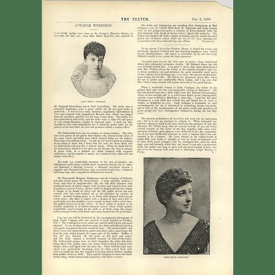 1893 Lady Emily Cadogan Miss Edith Lane-fox Four In Hand Clock