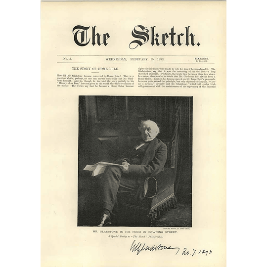 1893 Mr Gladstone Sitting In Downing Street The Story Of Home Rule