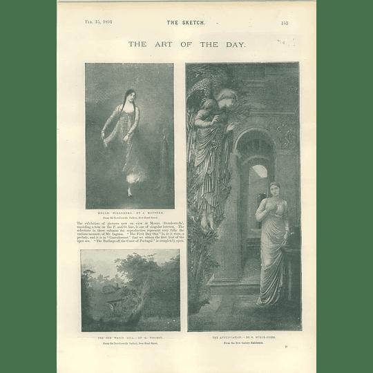 1893 The Burne-jones Artwork Hoppner Vincent