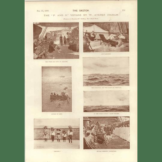 1893 Artworks Cotman The P & O Voyage W Ayerst Ingram