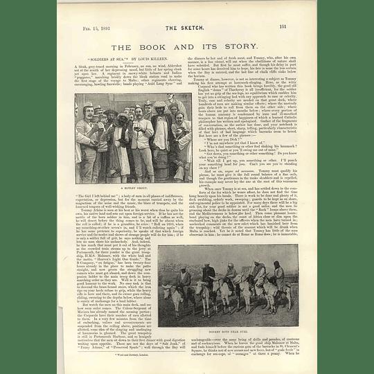1893 Soldiers At Sea Louis Killeen Donkey Boys Near Suez Valetta Coaling