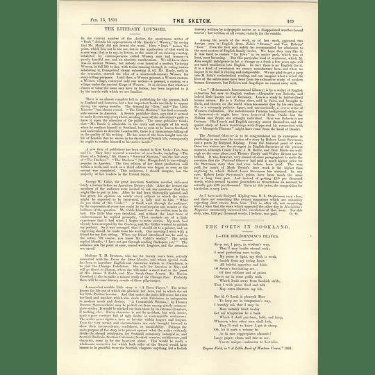 1893 The Bibliomaniacs Prayer Beckett At The Lyceum
