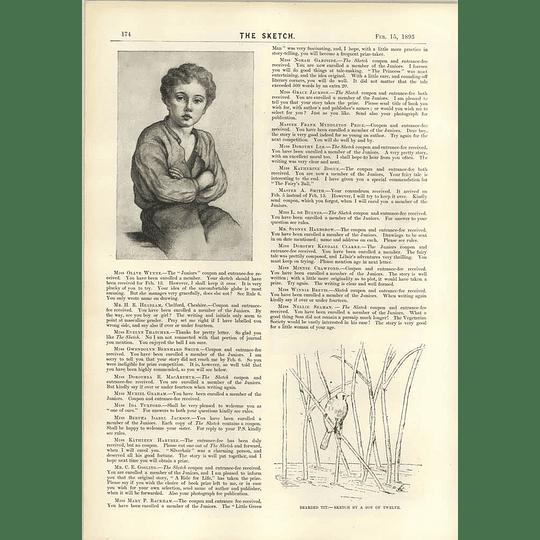 1893 Children's Sketches Miss Olave Wynne Nellie Seaman Winnie Brevis Grace Jackson