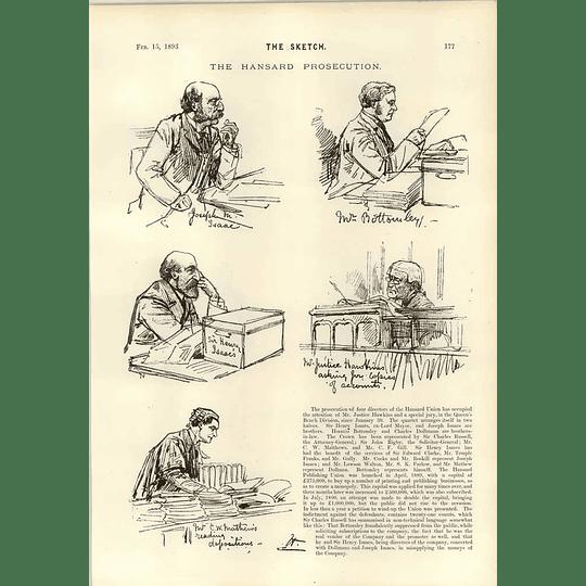 1893 Hansard Union Prosecution Howard Vincent Kier Hardie