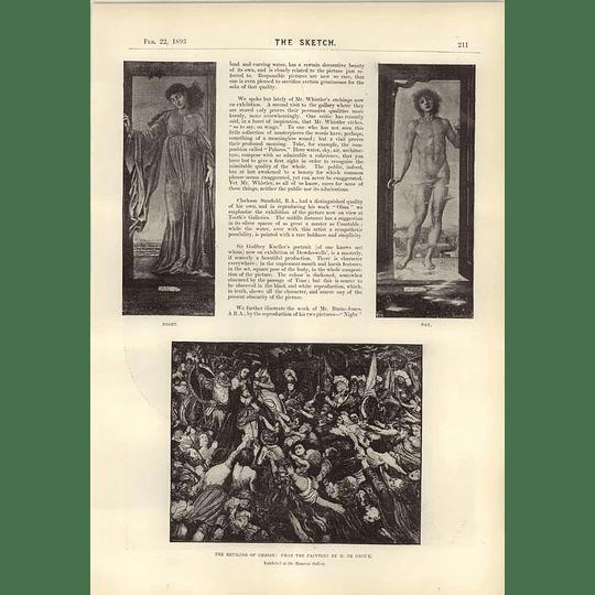 1893 The Reviling Of Christ Challenge Shield Royal Artillery Aldershot