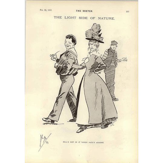 1893 Leslie Willson Crinoline Protest All The Girls Love A Sailor Phil May