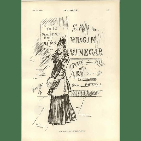 1893 The Irony Of Circumstance Virgin Vinegar Flight At Terry Theatre