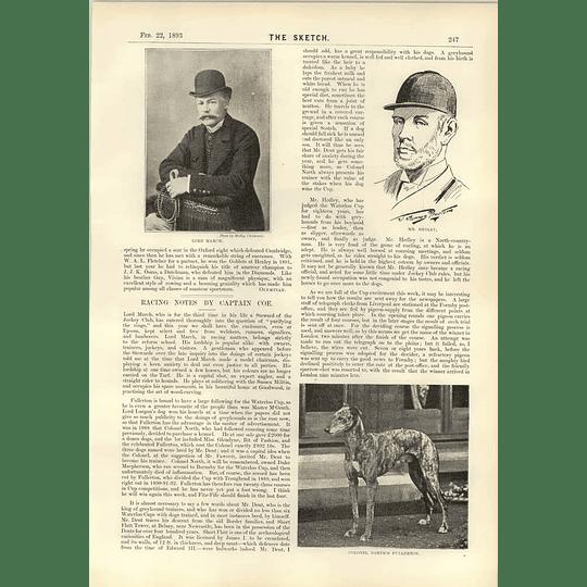 1893 Lord March Mr Hedley Jubilee Pope Leo Xiii