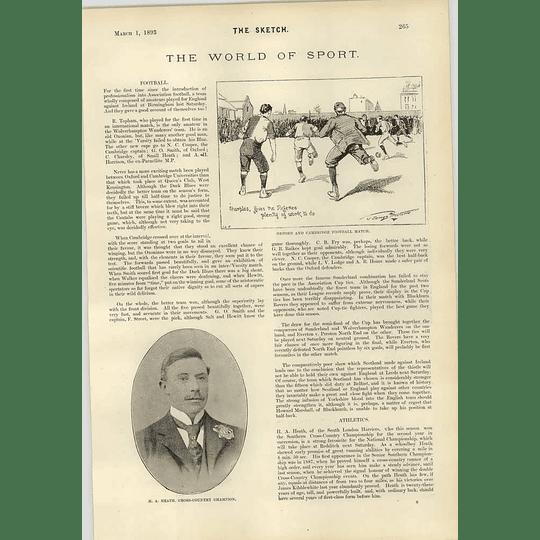 1893 James Proctor Oxford And Cambridge Football Match Vivian Nickalls Rowing