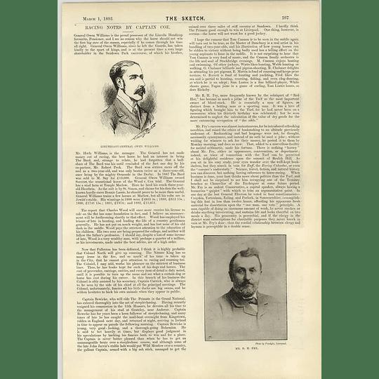 1893 Mr Rh Fry Lieutenant-general Owen Williams Cruise Of The Nancy Bell