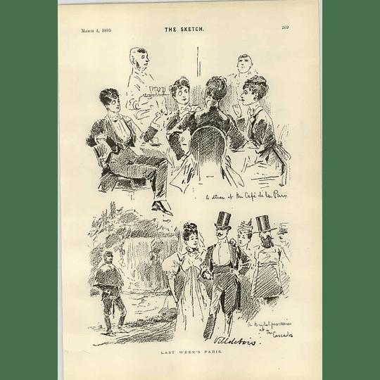1893 Last Week In Paris Villdebois Mr Mellor Takes The Chair