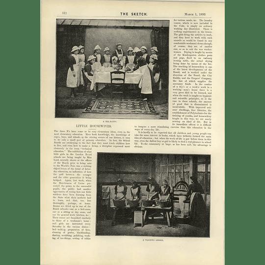 1893 London Board Schools Training Girls Fancy Dress Ball St John's Wood
