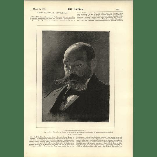 1893 Lord Randolph Churchill M Taine