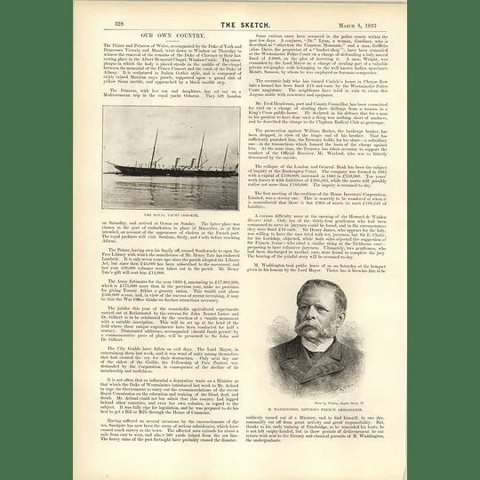 1893 Mr Waddington Retiring French Ambassador Collapse London And General Bank