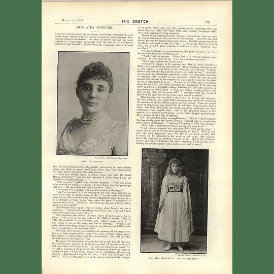 1893 Miss Aida Jenoure The Duke Of Norfolk As A Pilgrim