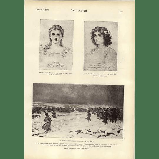 1893 Mr H Tate Donates Gallery Beckett Trophy Napoleons Retreat Russia Kratke