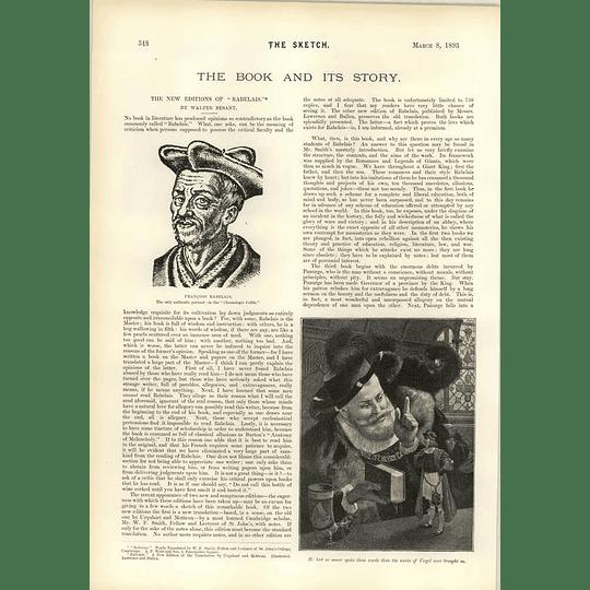 1893 Queensland Underwater New Edition Of Rabelais