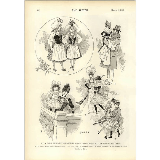 1893 Casino De Paris Fancy Dress Ball Japanese Girls Earl Compton Ii