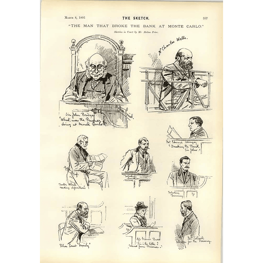 1893 The Man That Broke The Bank At Monte Carlo Sketches In Court