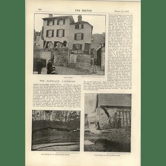 1893 Landslips In Sandgate Endcombe Estate A White Dinner In Paris