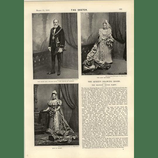 1893 Stuart Knill Lord Mayor Of London Miss M Wight Dr Jaochim