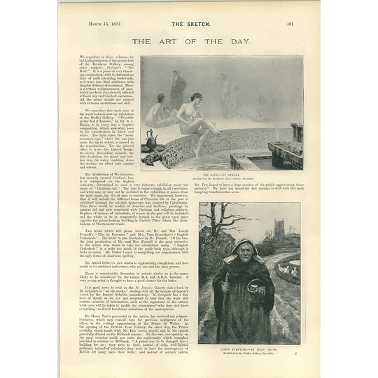 1893 Life's Eventide Hely Smith John Hoppner Portrait Art Works