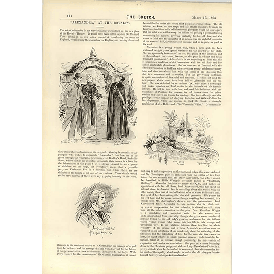 1893 How Mr Pinero Constructs His Plays Ii Alexandra At The Royalty