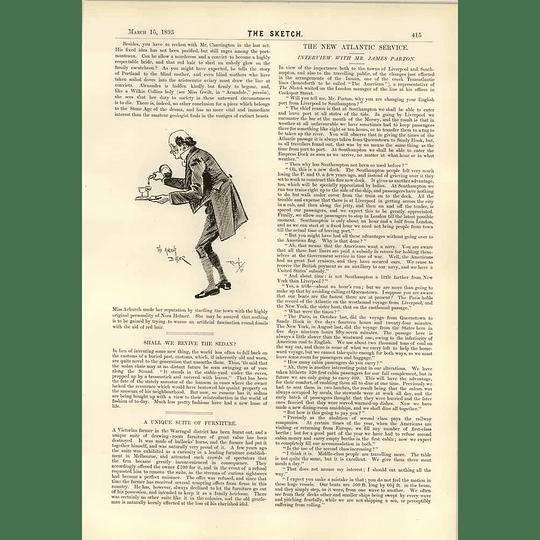 1893 Warragul Farmer Bullock Horn Furniture Interview Mr James Parton