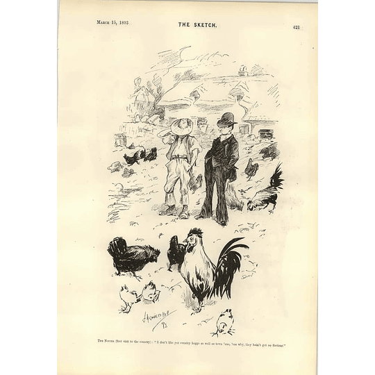 1893 Town And Country Eggs The Mighty Hunter René Bull