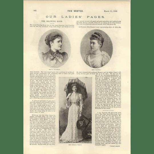 1893 Miss Helena Piercy Miss Baddesley The Howard De Waldon Divorce Case