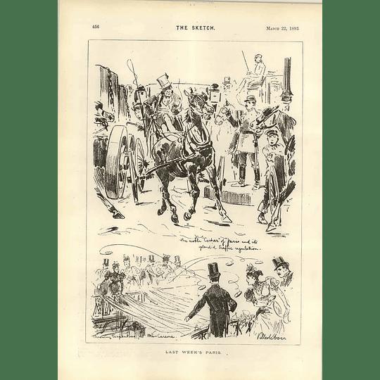 1893 Last Weeks Paris Villedebois Traffic Regulation