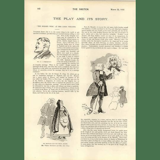 1893 The Golden Web At The Lyric Theatre Bc Stephenson