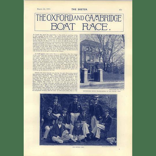 1893 Oxford Cambridge Boat Race Tenterfield House Team Photographs