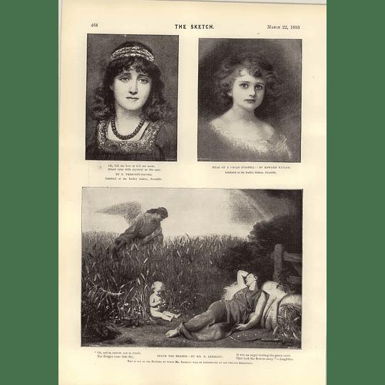 1893 Art Death The Reaper Sutton Courtney Market Girl Haite