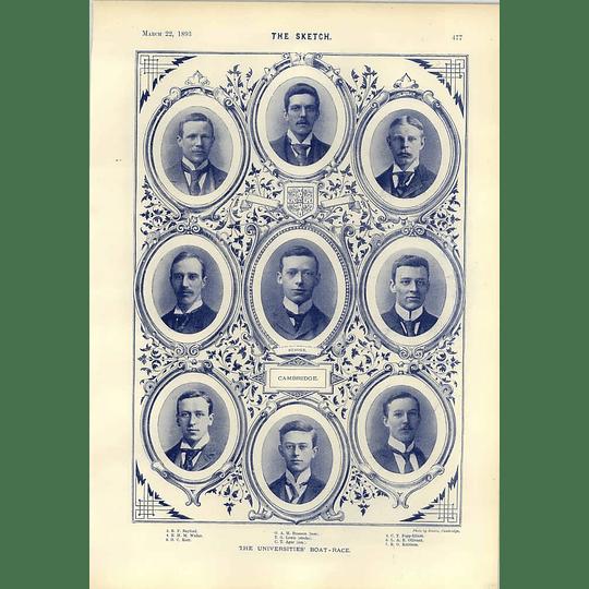 1893 Cambridge Boat Race Team Lewis Branson Races History