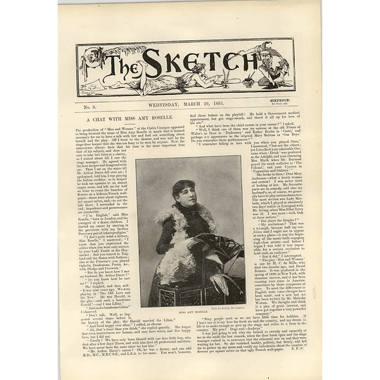 1893 Chat With Miss Amy Roselle Man And Woman Comic Opera