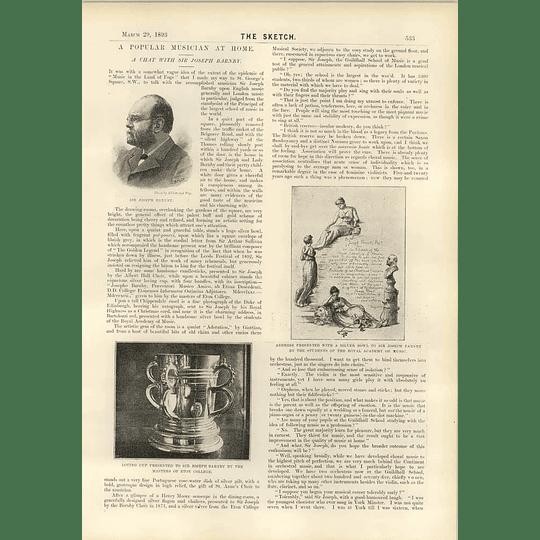 1893 A Chat With Sir Joseph Barnby Eton Loving Cup Choir