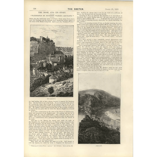 1893 North Entrance Devils Coach House Wanderings Southern Waters Aquitaine