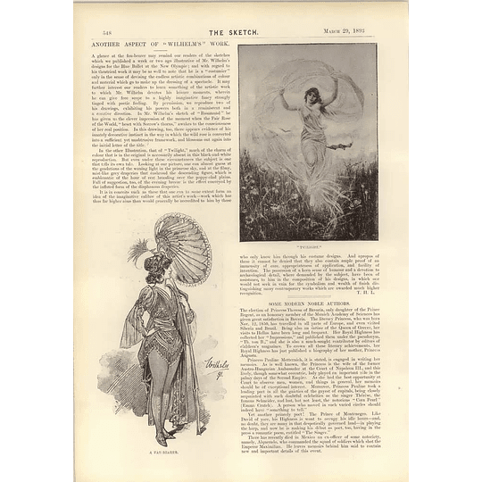 1893 Mr Wilhelm Charming Illustration Fan Bearer
