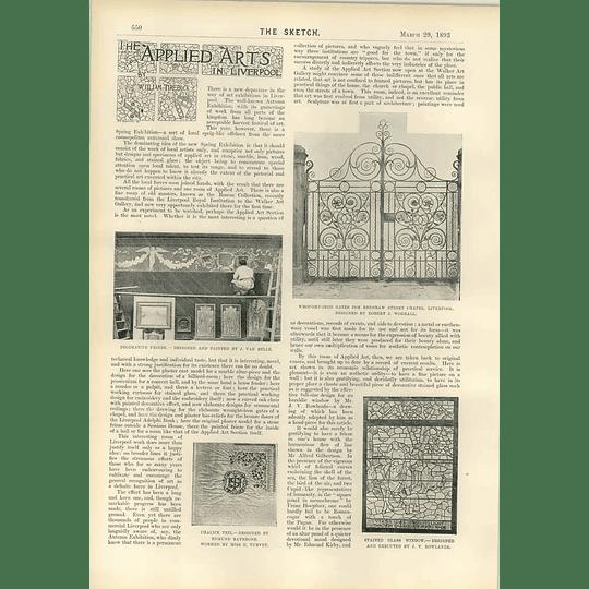 1893 Miss Ellen Terry Becket By Wilhelm Applied Arts Liverpool Renshaw Street Chapel
