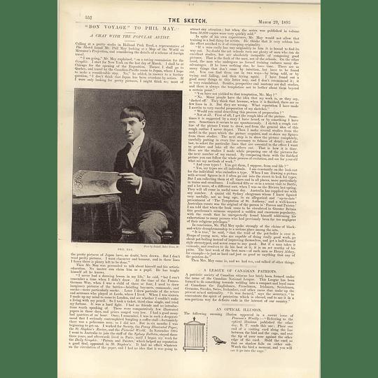 1893 Chat With Popular Artist Phil May Edmund Rathbone Design Proscenium