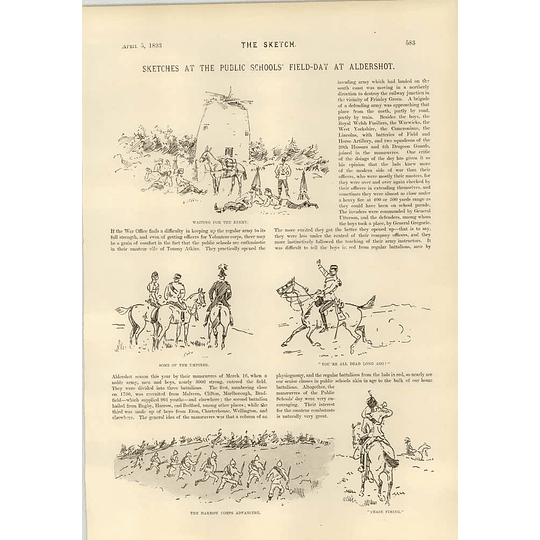 1893 Public Schools Field Day Aldershot The Harrow Corps